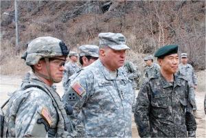 Gen. James Thurman Observing a USFK Exercises