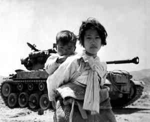 Girl with Baby, Korean War