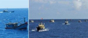 Large Fleet Deployed to the Spratly's