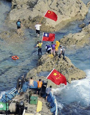 Chinese and Taiwanese Activists Land on the Diaoyus