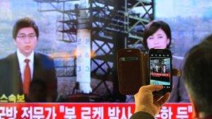 DPRK Launches Unha Rocket