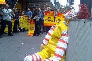 Fast Food Workers on Strike