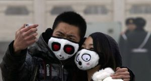 Couple Wearing Cute Masks