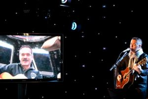 Chris Hadfield and BNL's Ed Robertson Singing I.S.S. (Is Somebody Singing?)