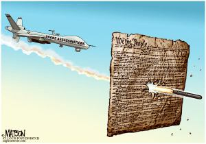 Drone Attack on the US Constitution