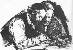 Marx and Engels, Friends