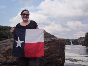 Laura Seay at Murchison Falls, Uganda